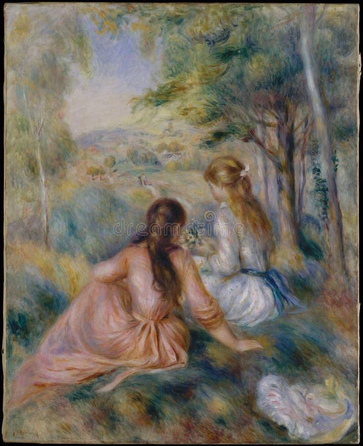 Auguste Renoir w łące - fotografia stock