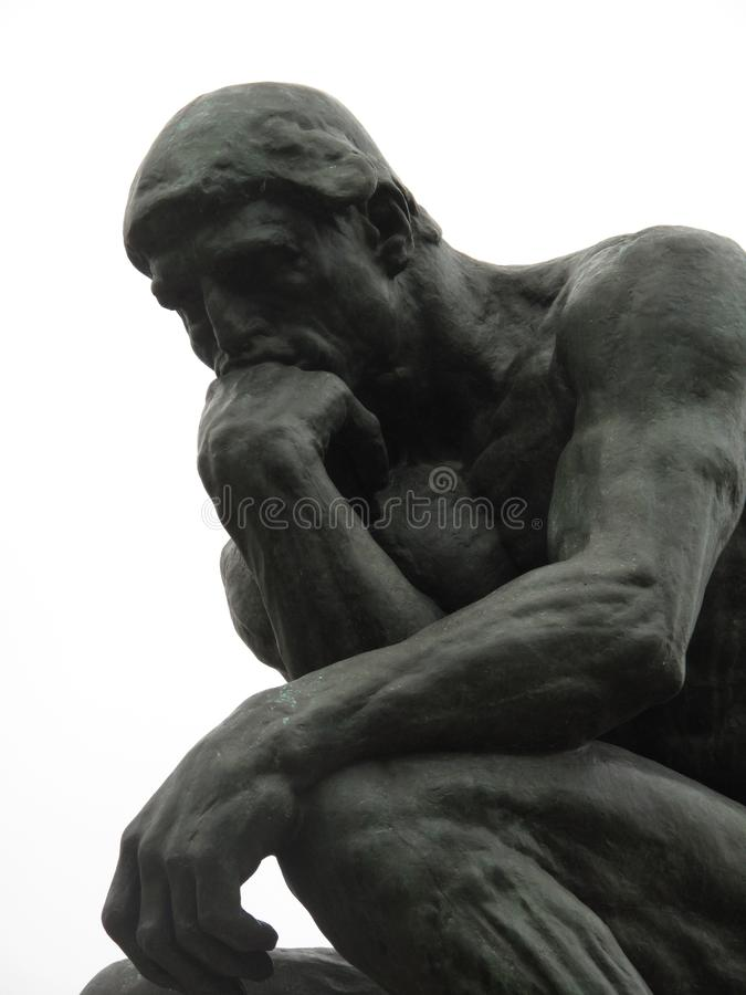 Auguste Rodin's The Pensieve royalty free stock image