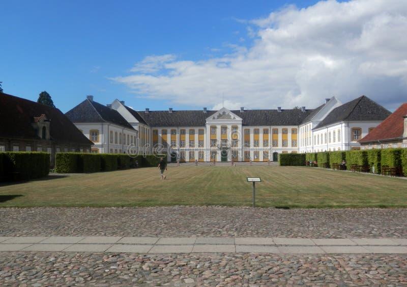 Augustenborg宫殿在南丹麦 免版税库存照片