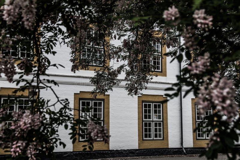 Augustenborg槽孔城堡 库存照片