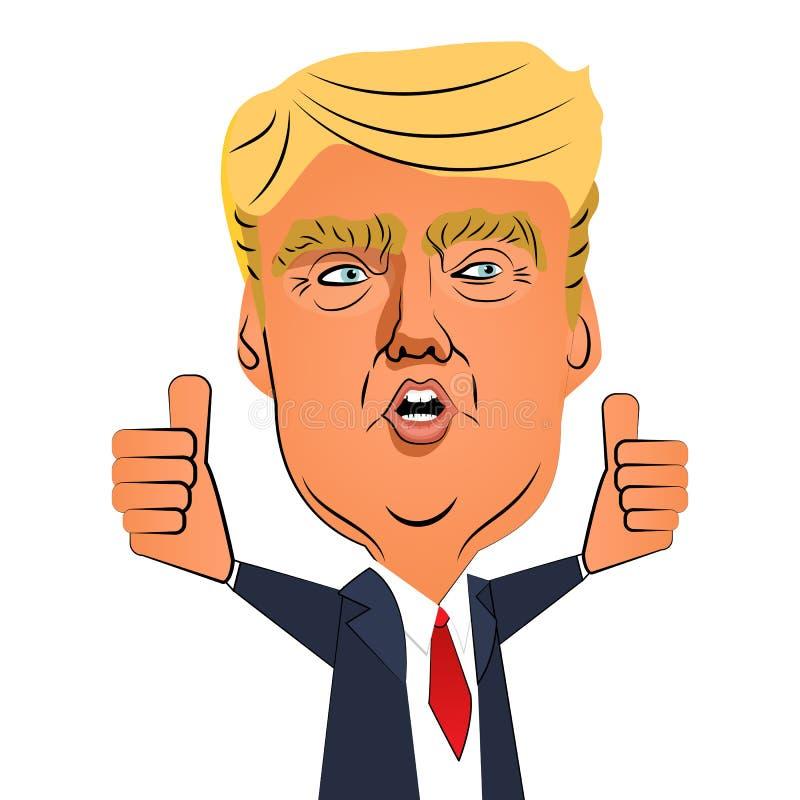 Augusti 10, 2016: Donald Trump tumme upp