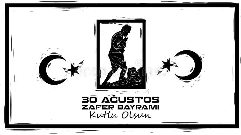 Augusti 30 Victory Day stock illustrationer