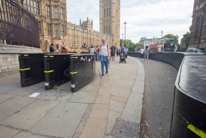 Augusti 2017, Westminster, London England arkivfoto