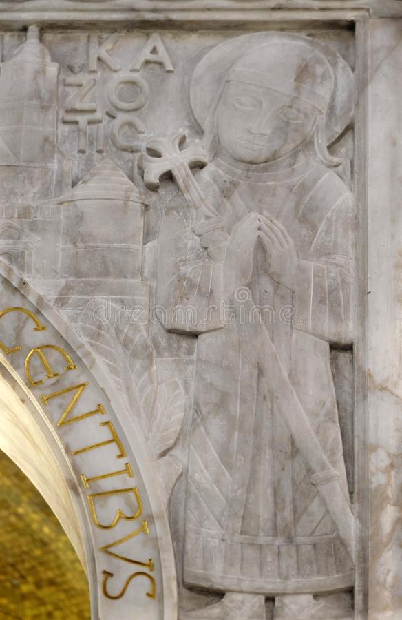 Augustin Kazotic benedetto, dettaglio del ciborio nella chiesa di San Biagio a Zagabria fotografia stock libera da diritti