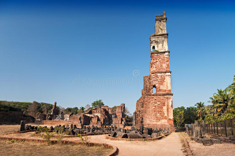 Augustine ruins stock photography