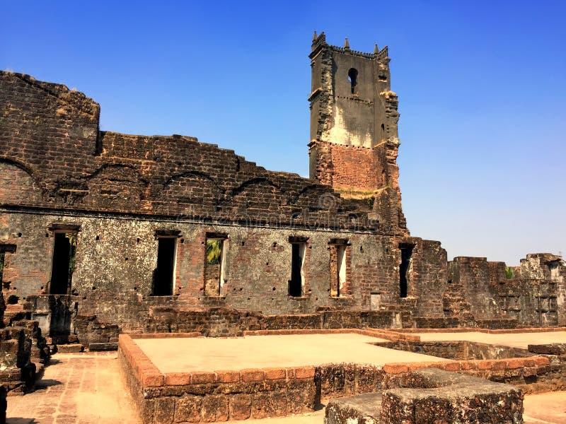 Augustine ruiny w Starym Goa, India obrazy royalty free