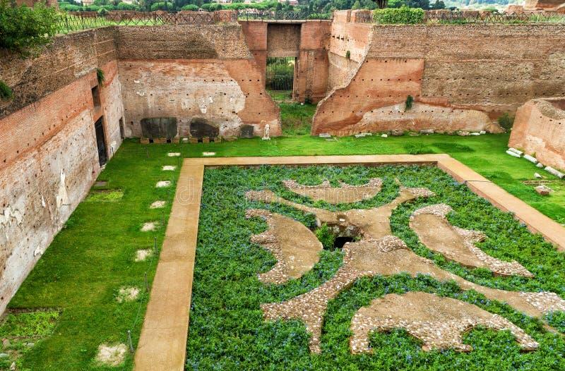 Augustus之家在Palatine小山的在罗马 免版税图库摄影