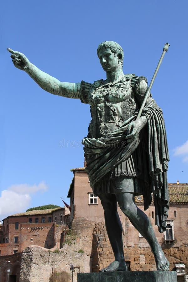 Augustus, первый римский император стоковые изображения rf