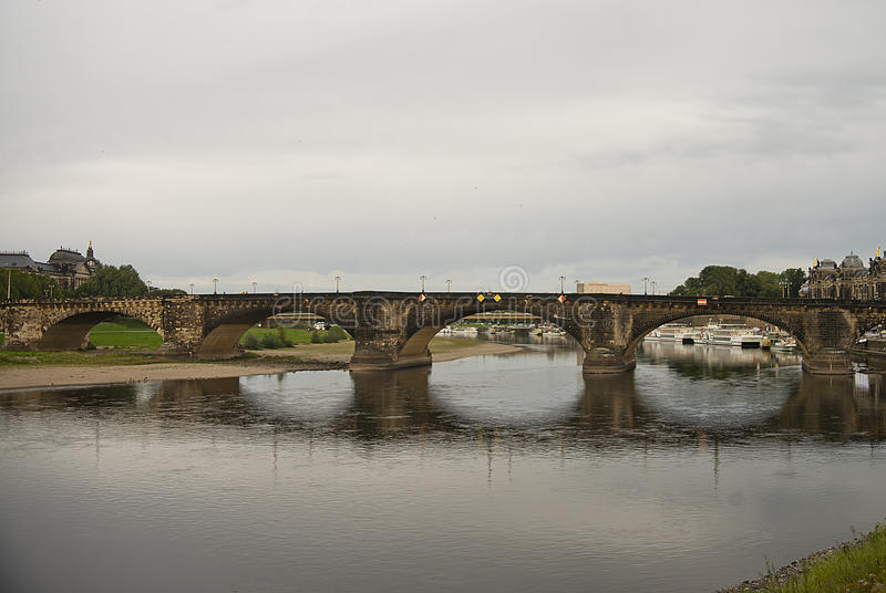 Augustus bridge, Dresden, Germany. The Augustus Bridge is the oldest bridge in the city of Dresden, in the state Saxony in Germany. It was built between 1907 and stock images
