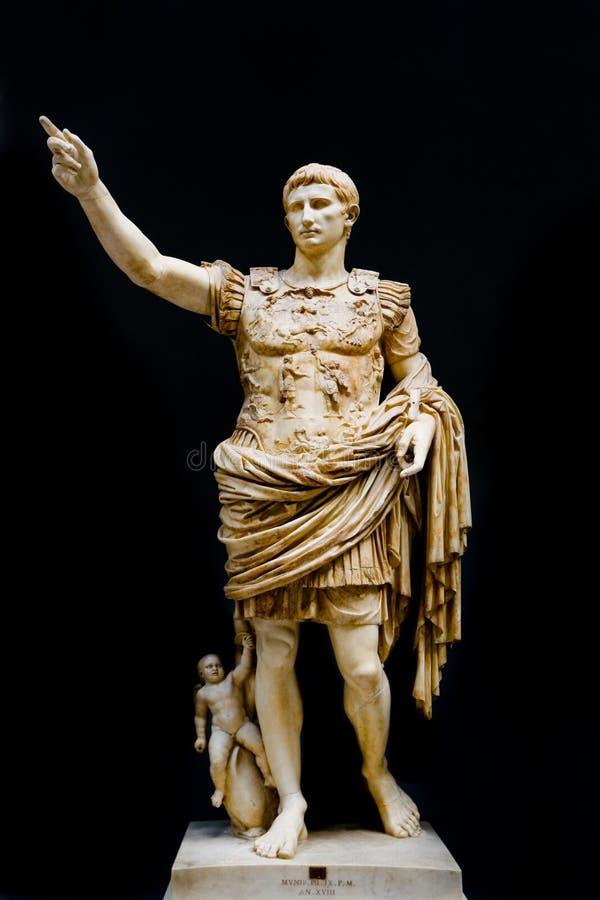 augustus Caesar fotografia stock