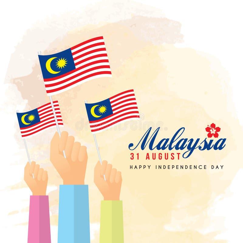 31 Augustus - de Onafhankelijkheidsdag van Maleisië vector illustratie