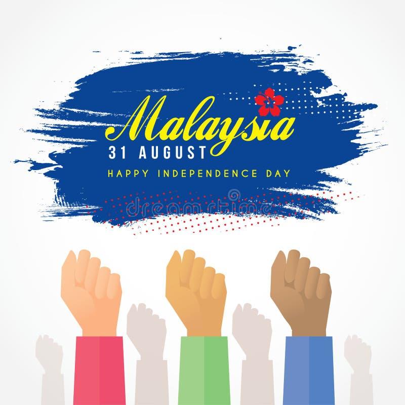 31 Augustus - de Onafhankelijkheidsdag van Maleisië stock afbeelding