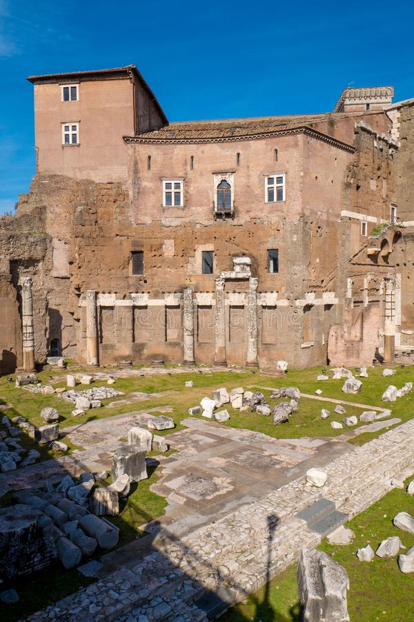 Augustus Forum (Foro di Augusto) près de Roman Forum dans la ROM images stock