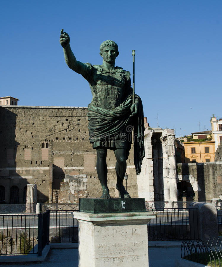 Download Augustus the imperor stock photo. Image of capital, monument - 27614304