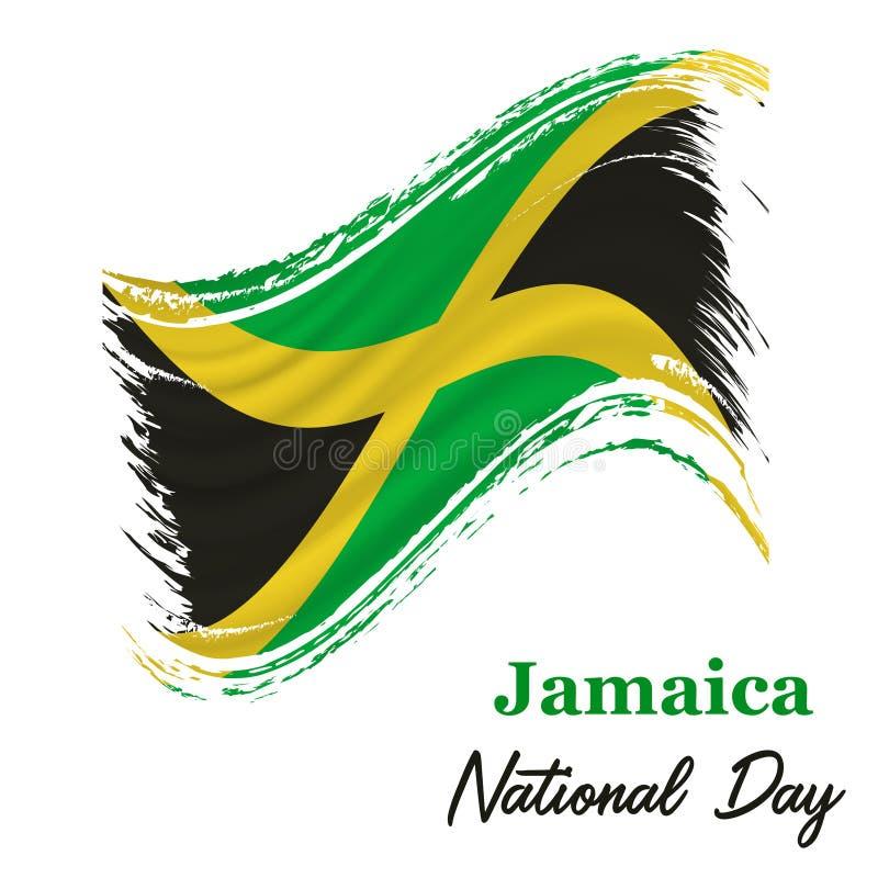 6 Augustus, Jamaïca-de achtergrond van de Onafhankelijkheidsdag vector illustratie