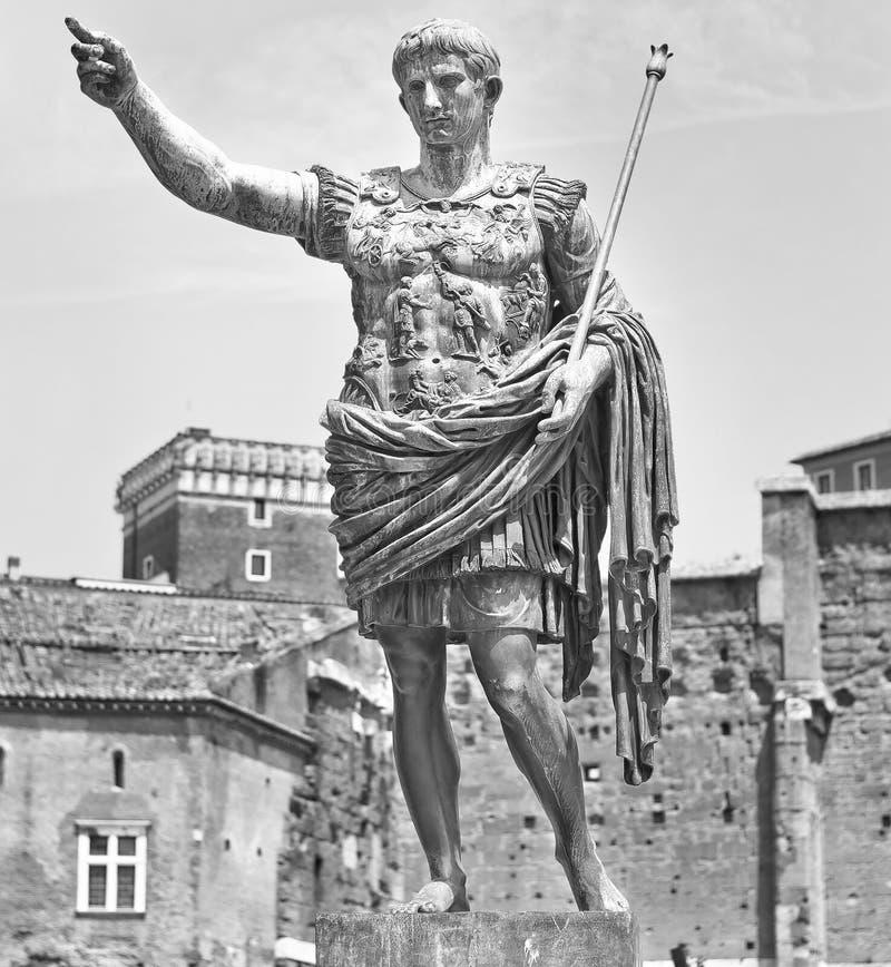 Augustus: o imperador romano imagem de stock