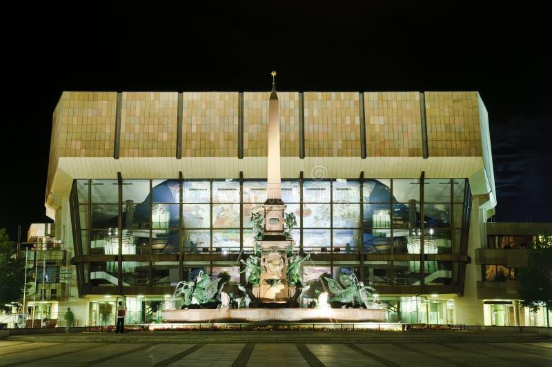 Augustus Platz in Leipzig stockbild