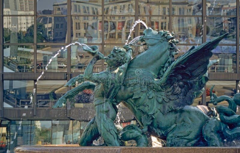 augustusplatz leipzig royaltyfri foto