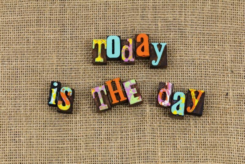 Aujourd'hui est nouveau beau jour photo libre de droits