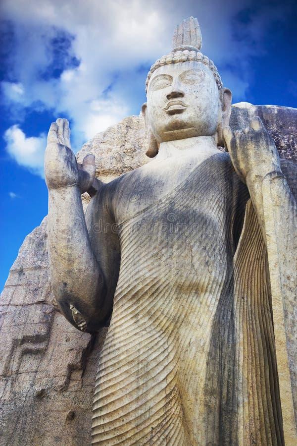Aukana Bouddha, Sri Lanka photo libre de droits