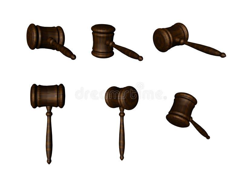 Download Aukcji młotek wielo- 3 d ilustracji. Ilustracja złożonej z sprawiedliwość - 27629