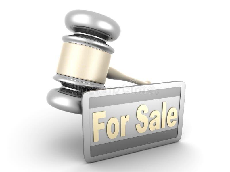 auktionförsäljning vektor illustrationer
