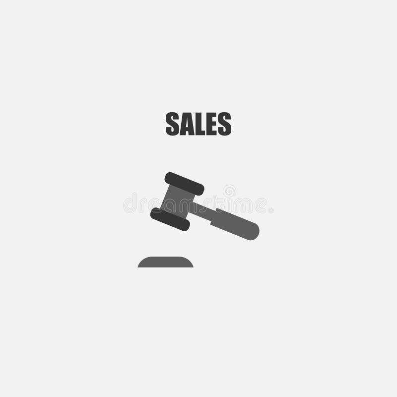 Auktionsikone hammer Verkauf Auch im corel abgehobenen Betrag ENV 10 vektor abbildung