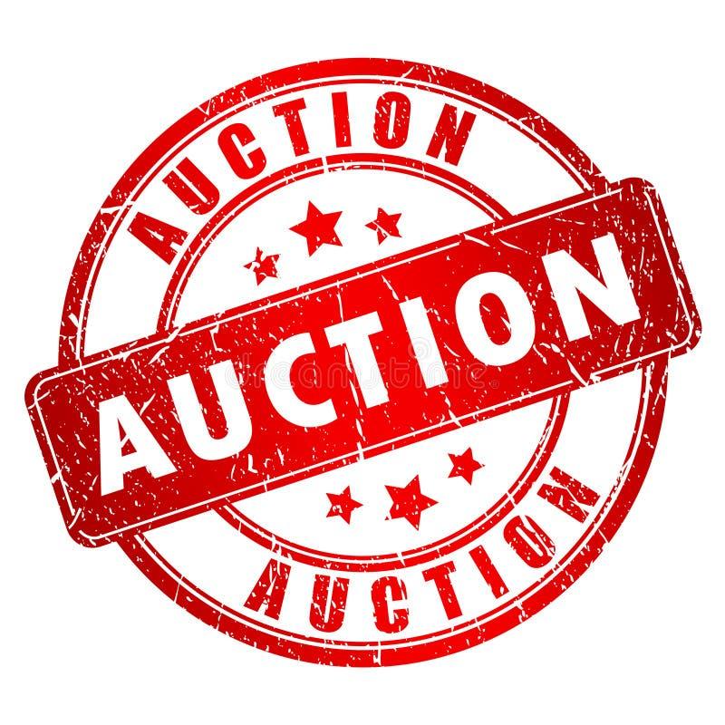 Auktionvektorstämpel stock illustrationer