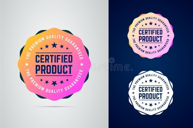 Auktoriserad revisor kvalitets- garanterat emblem för produktvektorfärg royaltyfri illustrationer