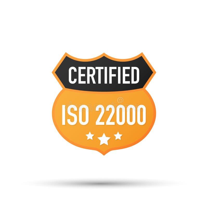 Auktoriserad revisoremblem för ISO 22000, symbol Attesteringsstämpel Plan designvektor också vektor för coreldrawillustration stock illustrationer