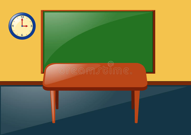 Aula con la lavagna e la tavola illustrazione vettoriale for Mobilia lavagna