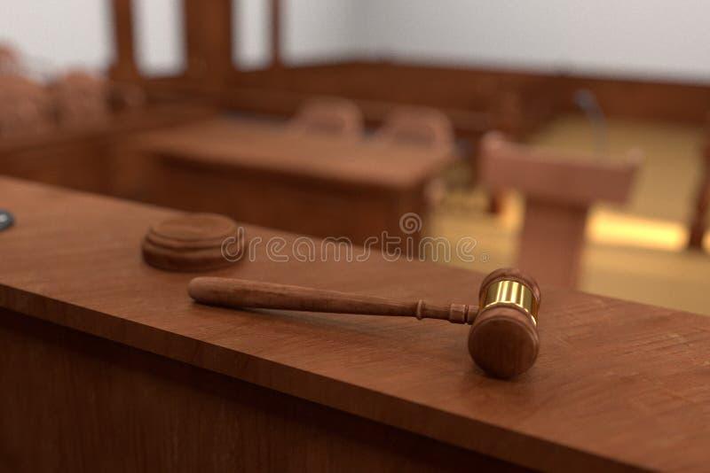 Aula del tribunale illustrazione di stock