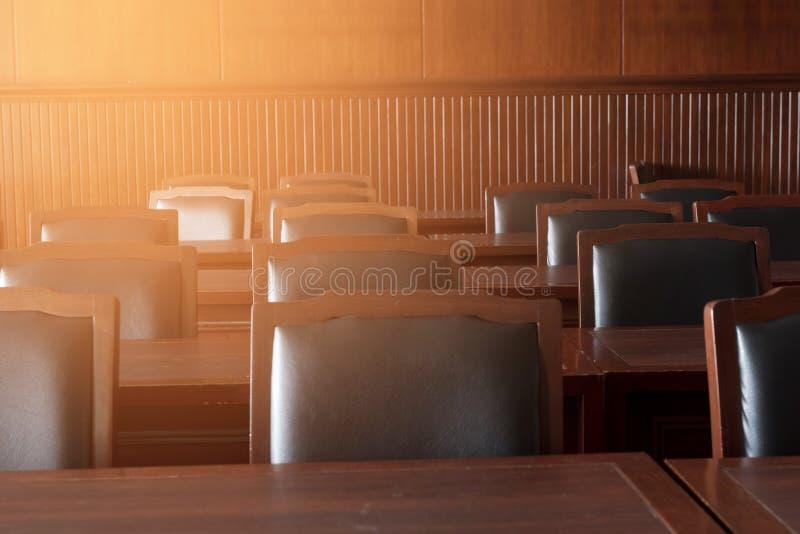 Aula di tribunale dell'ordinamento giudiziario immagini stock libere da diritti