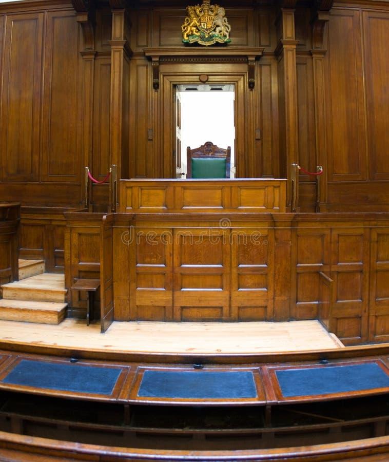 Aula giudiziaria molto vecchia (1854) con fotografie stock libere da diritti