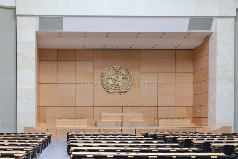 Aula i FN-Genève royaltyfri fotografi