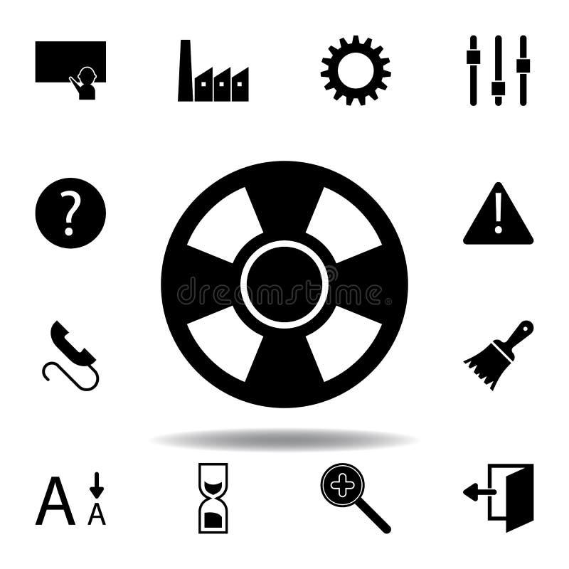 Aula, presentazione, icona d'istruzione I segni ed i simboli possono essere usati per il web, logo, app mobile, UI, UX illustrazione vettoriale