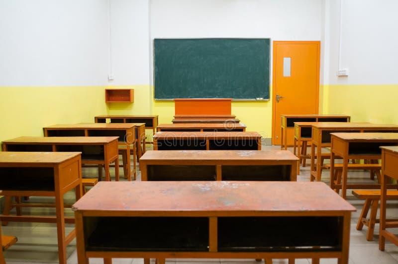 aula vuota immagine stock