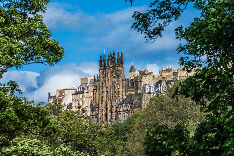 Aulan, Edinburg, Skottland royaltyfri fotografi