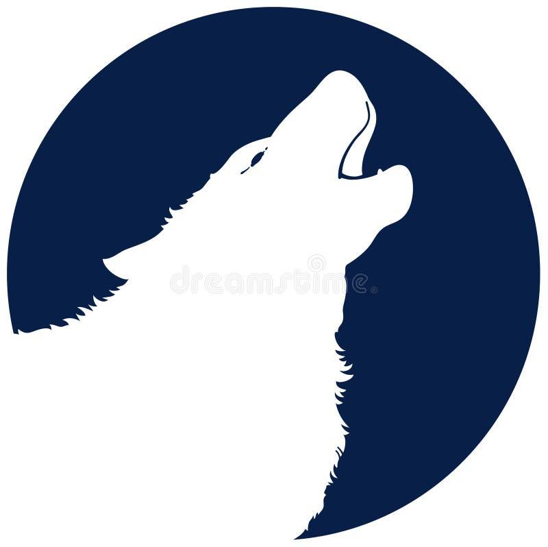 Aullido del lobo stock de ilustración