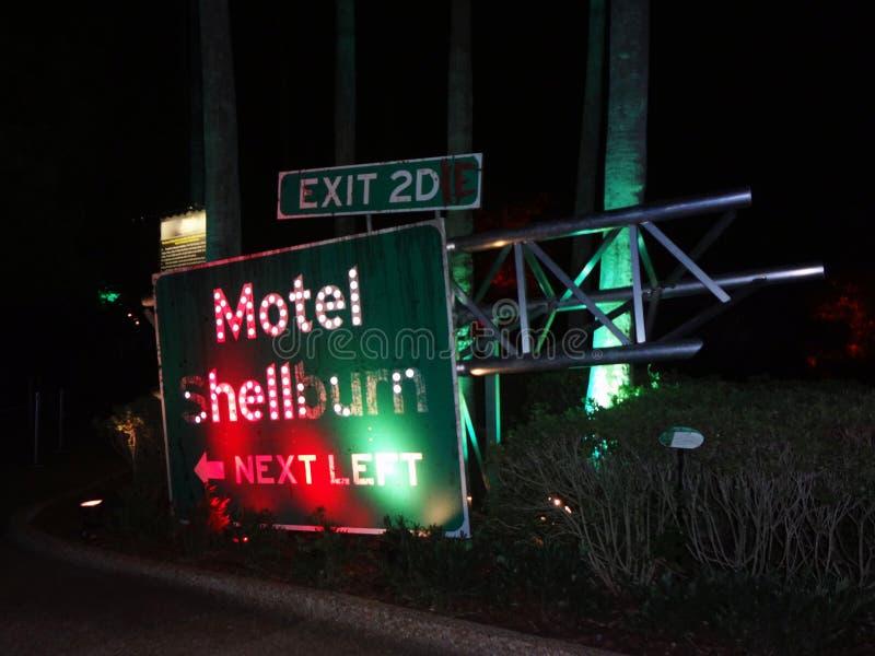 Aullido-O-grito de Shellburn del motel en los jardines de Busch imagen de archivo libre de regalías