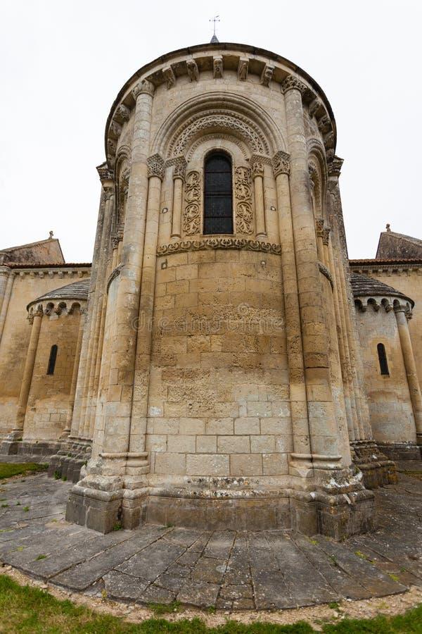 Aulnay de Saintonge教会abse 图库摄影