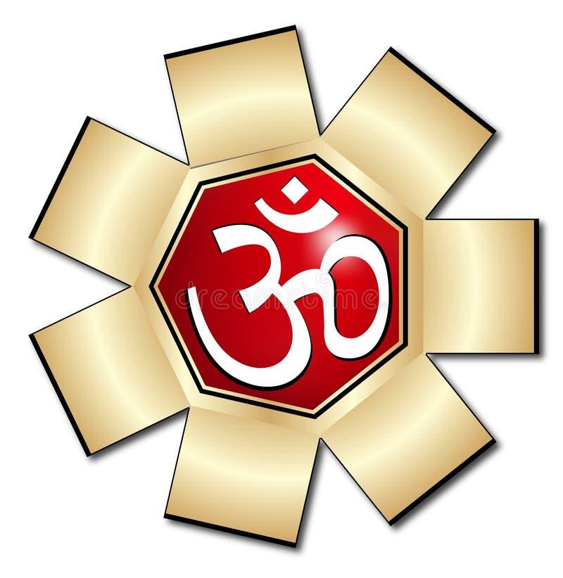 aum σύμβολο του OM διανυσματική απεικόνιση