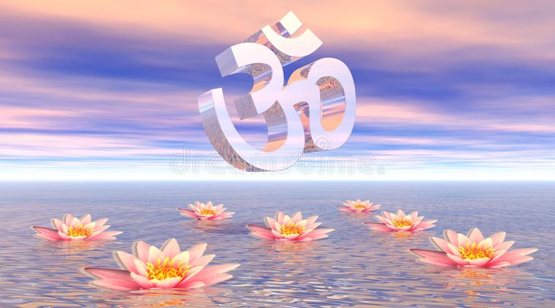 Download Aum - om upon lotus stock illustration. Image of mantra - 16039658