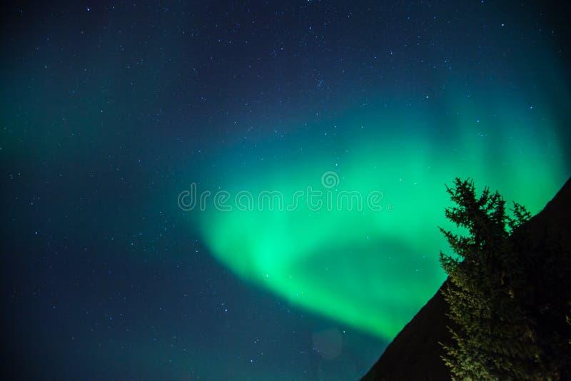 Aumentação da aurora boreal fotografia de stock royalty free