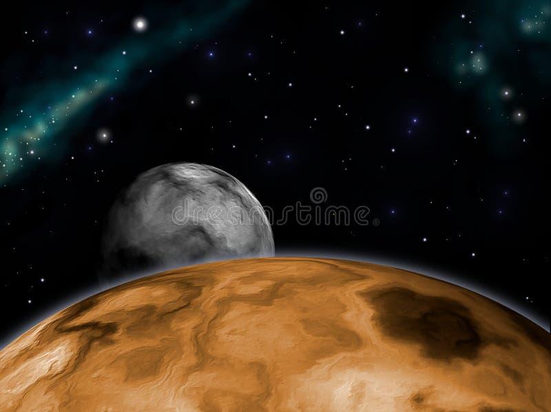 Aumentação da lua ilustração royalty free