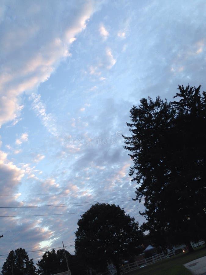 Aumentação das nuvens do algodão doce foto de stock royalty free