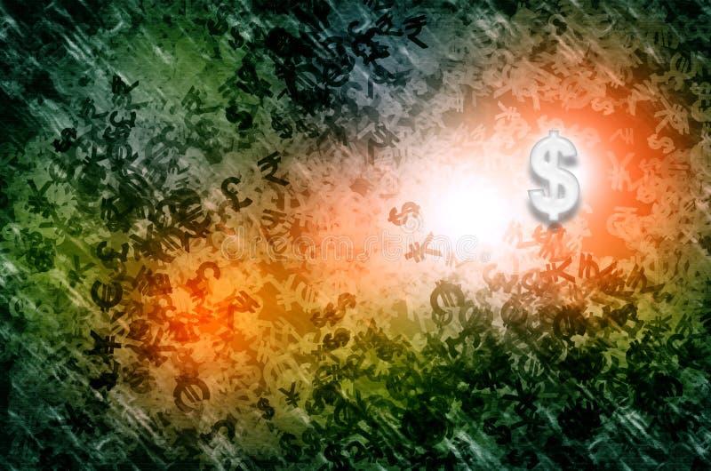 Aumentação do dollor da moeda ilustração stock