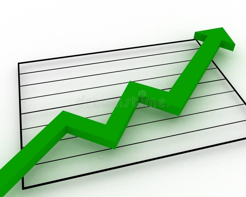 Aumentação do gráfico de negócio ilustração royalty free