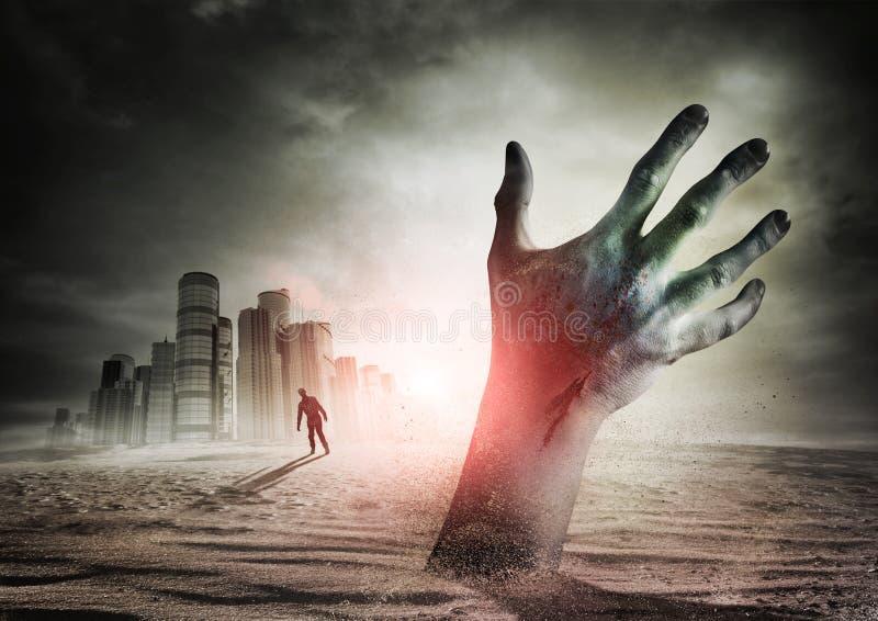 Aumentação do zombi imagens de stock royalty free