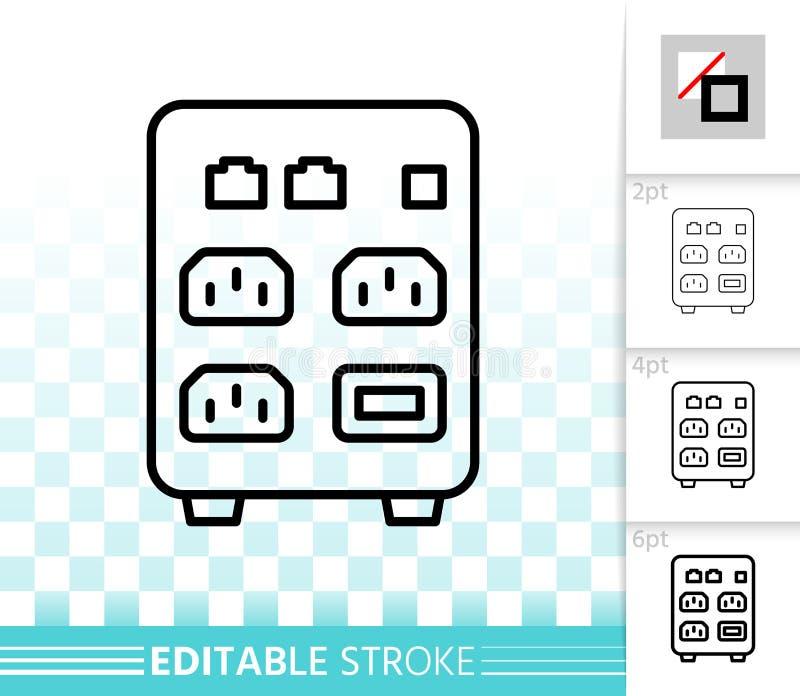Aumenta la linea nera semplice icona di vettore illustrazione vettoriale